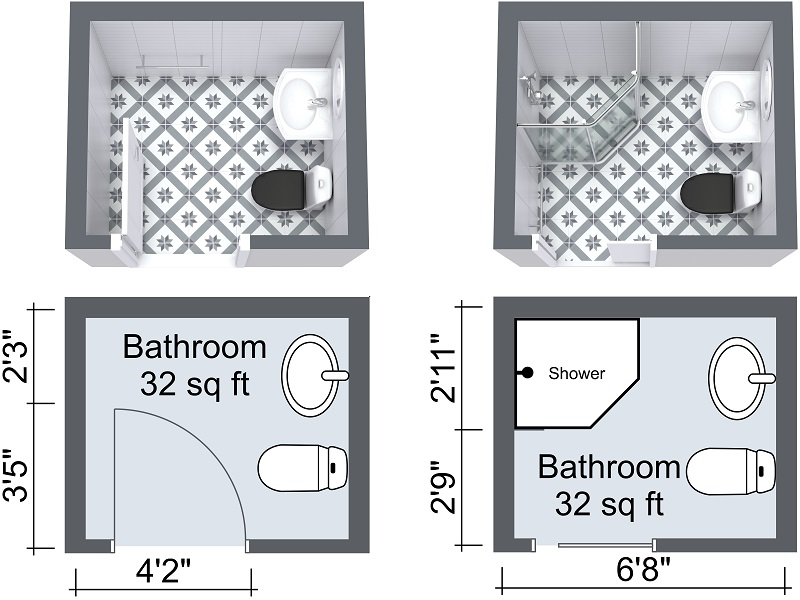 Bathroom layouts can be improved using a pocket door